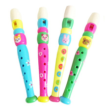 Colorful Children Learning Flute Well Designed Wooden Plastic Kids Piccolo Flute Musical Instrument Early Education Toy 11-245
