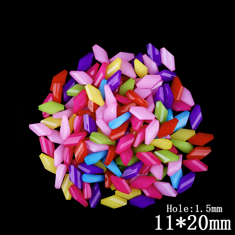 DIY Fantasy Jewelry Store 80pcs/lot  Candy Color Acrylic Plastic Beads Irregular  Transparent Straight  Hole Beads Jewelry Making Necklace Bracelets