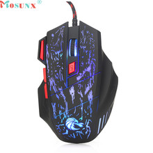 Mosunx Advanced Department high quality Professional 7 Buttons 5500DPI USB Optical Wired Gaming Mouse Mice For PC Laptop 1PC