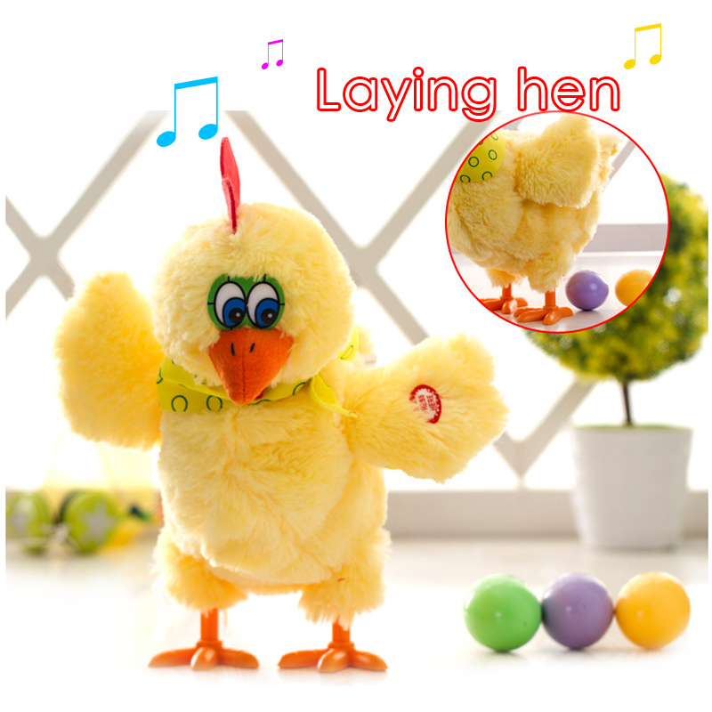 A Funny Laying Hen Dancing Singing Musical Trick Chicken Lay Egg Hens Electronic Toys Interesting Gift For Children