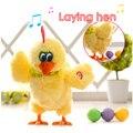Un Divertido Truco Bailando Cantando Musicales de Gallinas Ponedoras Pollo Gallinas Ponen Huevos Juguetes Electrónicos Regalo Interesante Para Los Niños