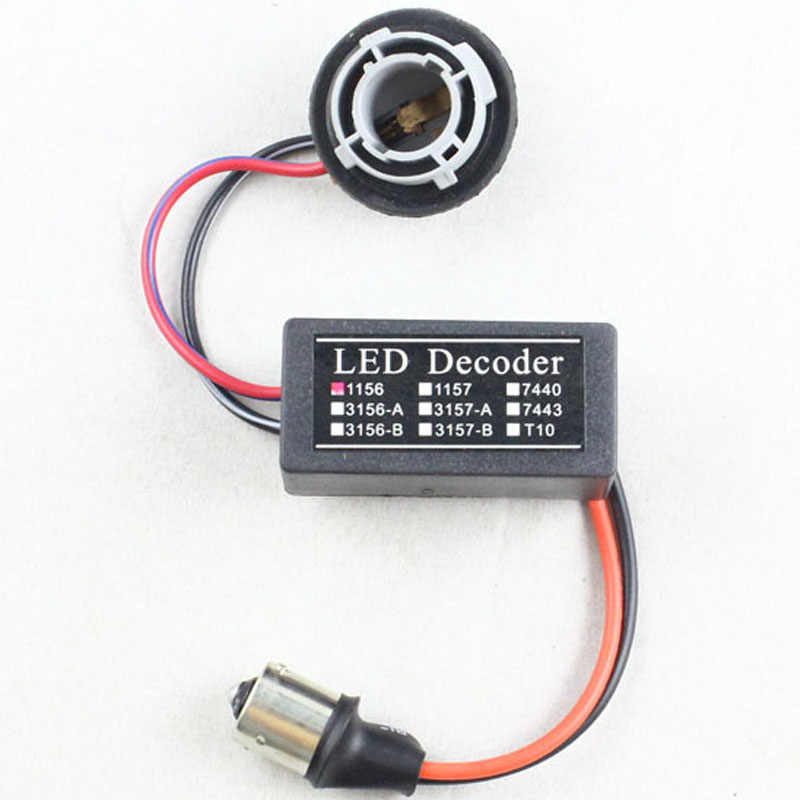 1156 BA15S Warning Decoder canceller No Error Free Flash  Load Resistors For turn signal after installing LED bulbs
