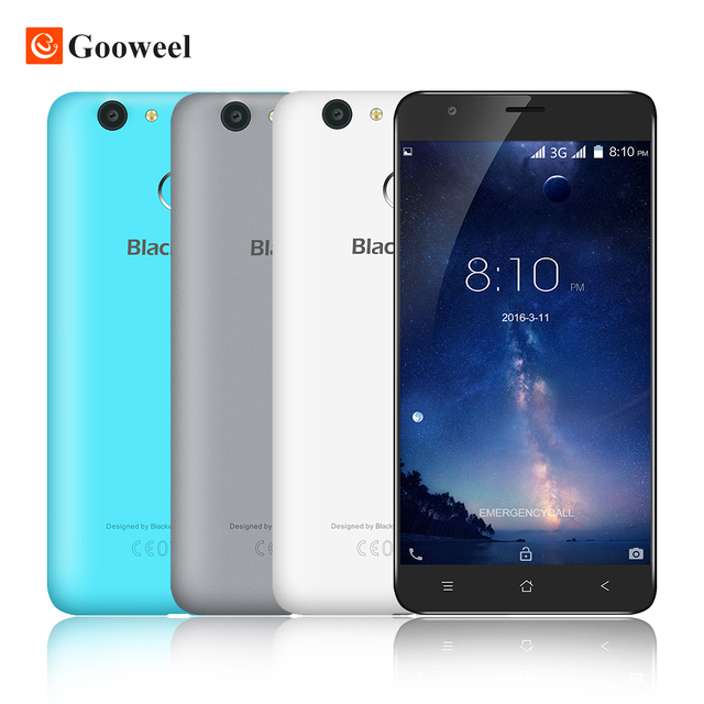 Blackview E7S smartphone MT6580 Quad Core Android 6.0 Mobile Phone 5.5 inch IPS HD 2GB16GB 8MP GPS 3G cell phone Fingerprint ID