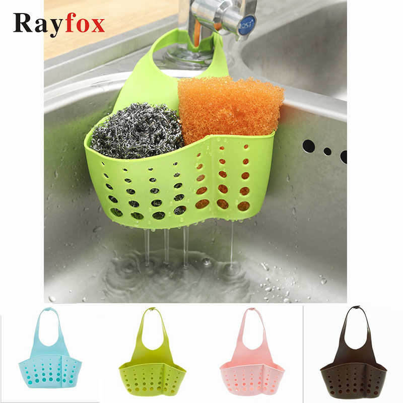 Kitchen Gadgets Portable Basket Home Kitchen Hanging Drain Basket Bag Bath Storage Tools Sink Holder Kitchen Accessory Utensils