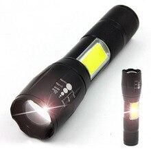 2 way high power T6 COB Led Flashlight Flash Light Torch Pro