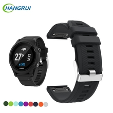 HANGRUI Soft Silicon Strap For Garmin Fenix 5 Sprot Smart Watch Band Replacement Wristband Wearable accessories For Fenix5