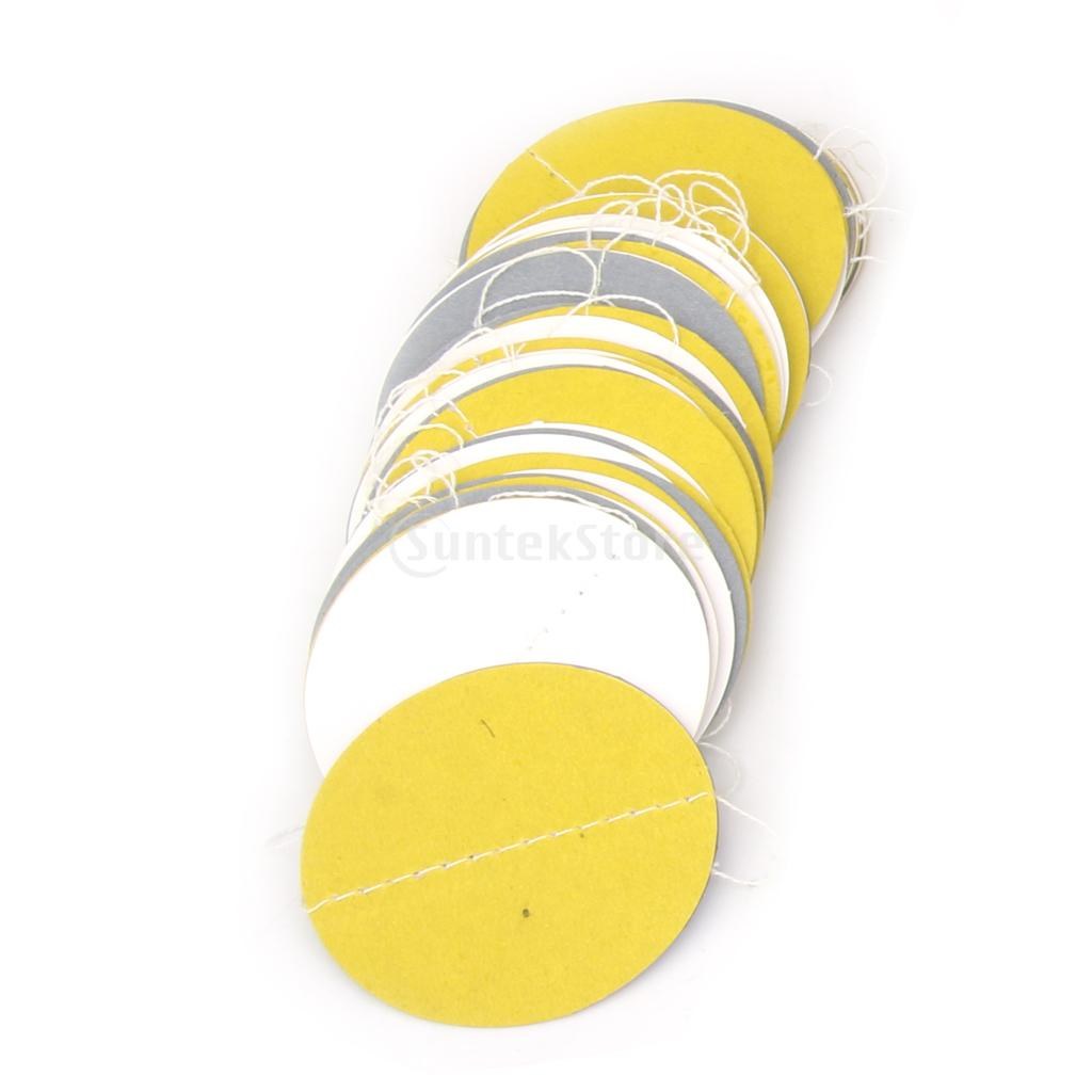 White and Gray Yellow Circle Paper Garland Bunting 13ft Banner ...