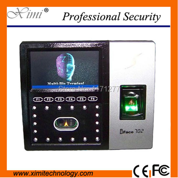 Wall clock machine WI-FI TCP/IP network ID card reader iface702 face fingerprint recognition access control emplpyee attendance