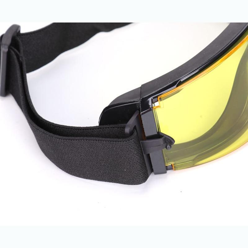 de Sol Óculos Goggles GX1000 Preto 3 Lens