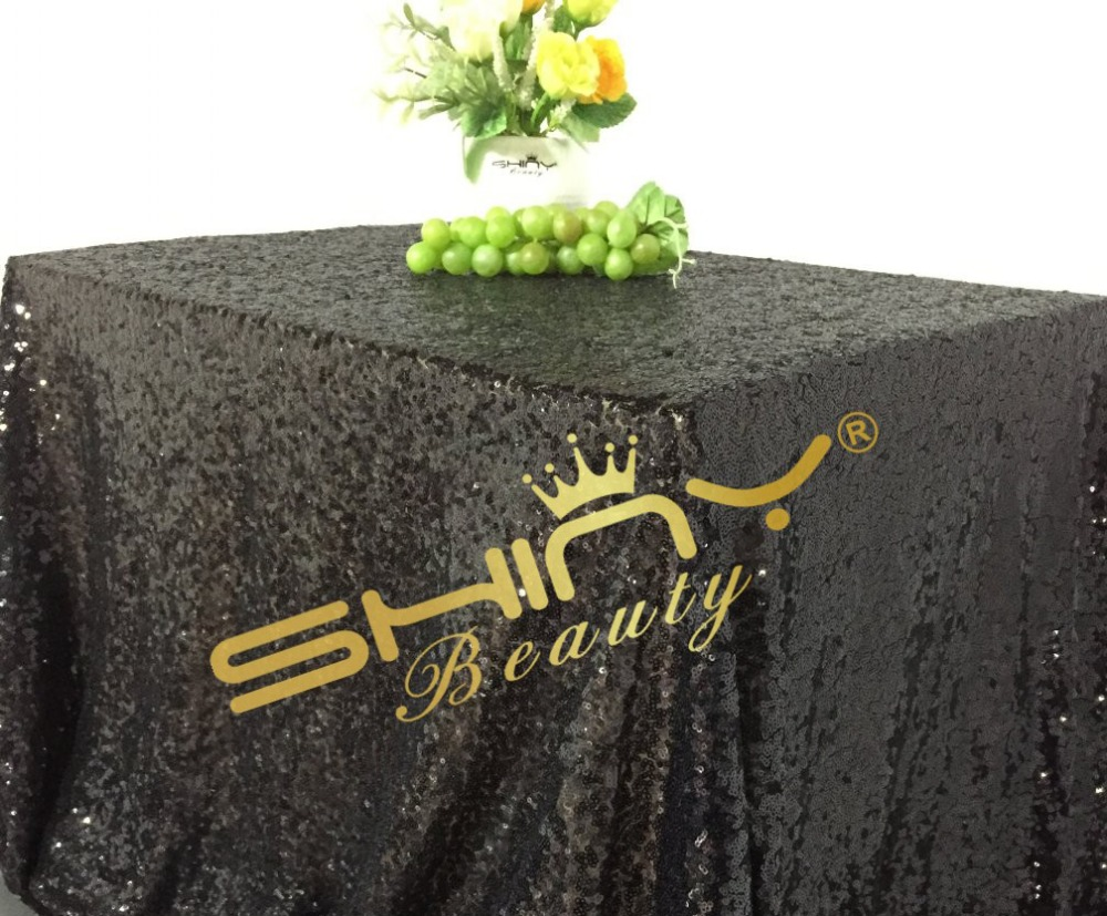 On Sale!! 50*50 Black Sequin Tablecloths, Sequin Tablecloths and Sequin Overlays For Wedding/Party/Birthday Decoration
