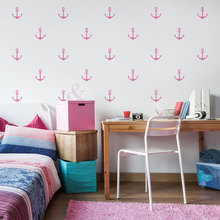 Nautical Style Anchor Of Ship Art Wall Stickers Set Patterned CHildren Bedroom Sweet Loving Decor Vinyl Wall Decals Mural W-339 rock wall patterned door art stickers
