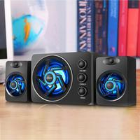 SADA D 209 High Quality Wooden Subwoofer Stereo Bass PC Phone USB 2.1 Bluetooth Wireless Computer Speaker Support TF Card U Disk