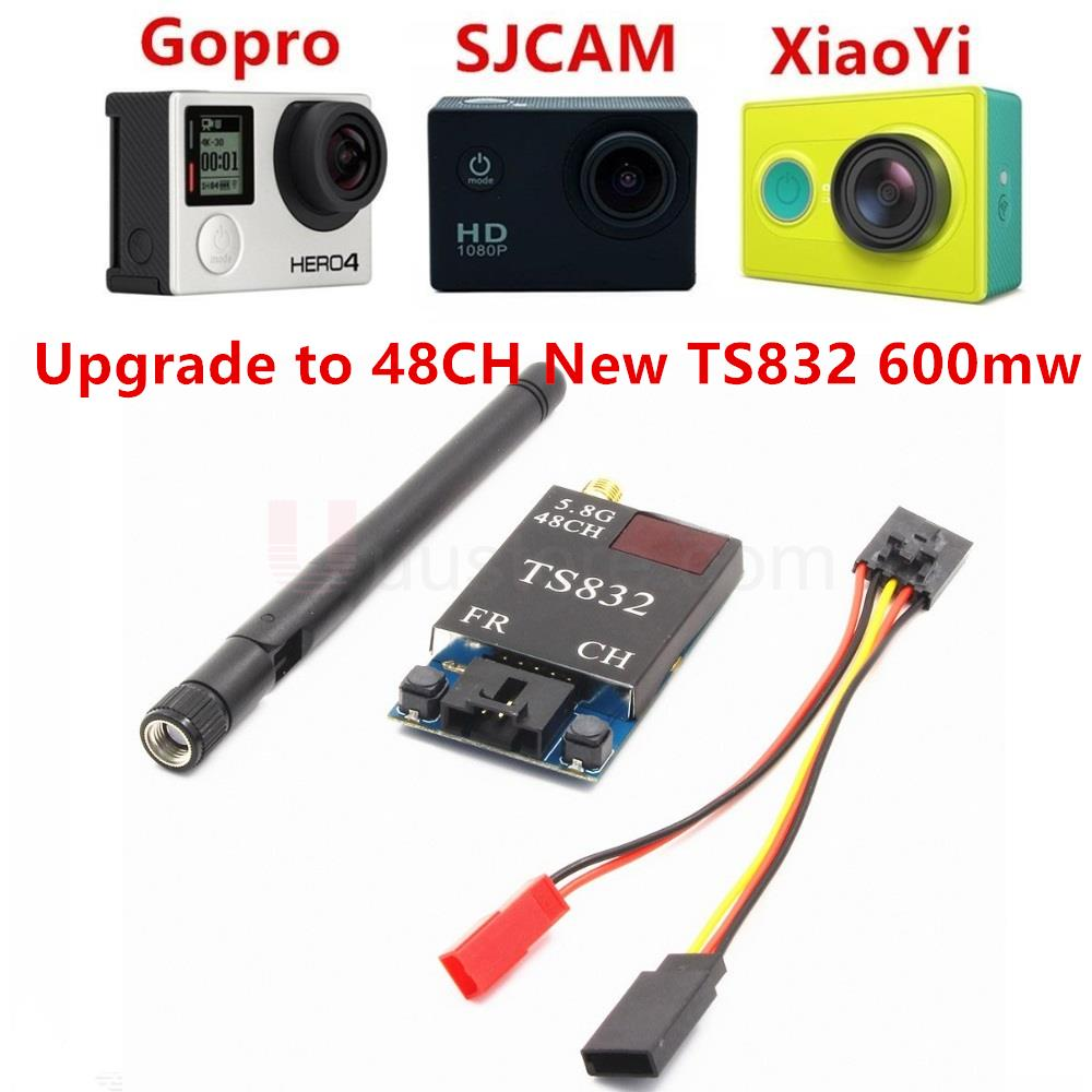 FPV OK ts832 FPV 5.8 GHz 600 MW 48ch AV Transmisión (TX) módulo rp-sma Antenas para sj4000 gopro xiaomi Yi FPV Cámara