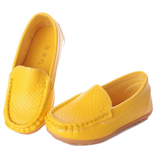 Новый бренд дети кожаная обувь для девочки мальчик горох обуви non-slip сухожилия кроссовки дети искусственная кожа ребенка свободного покроя малыш обувь tyh-20380