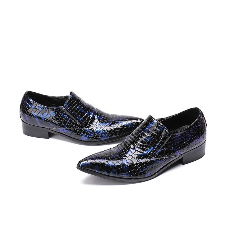 2 Carreira Toe 1 Festa De Moda Homens Patiend Sapatos Tamanho Ointed Azul Da Mocassins Trabalho Slio 46 Casamento Vestido Vermelho Couro F4wCqRfax