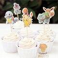24 pcs dos desenhos animados Anime pokemon ir Pikachu candy bar toppers escolher frutas picaretas do queque do chuveiro de bebê do aniversário dos miúdos fontes do partido