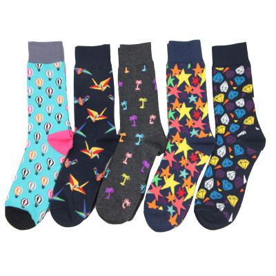 2018 Classic Socks Brand Hit Color European American Personality Women Men Funny Socks Jacquard Short Cotton Male Socks