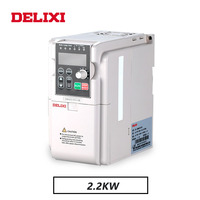 DELIXI 220V AC 2.2KW single phase input three phase output frequency inverter converter for motor Speed Controller drives