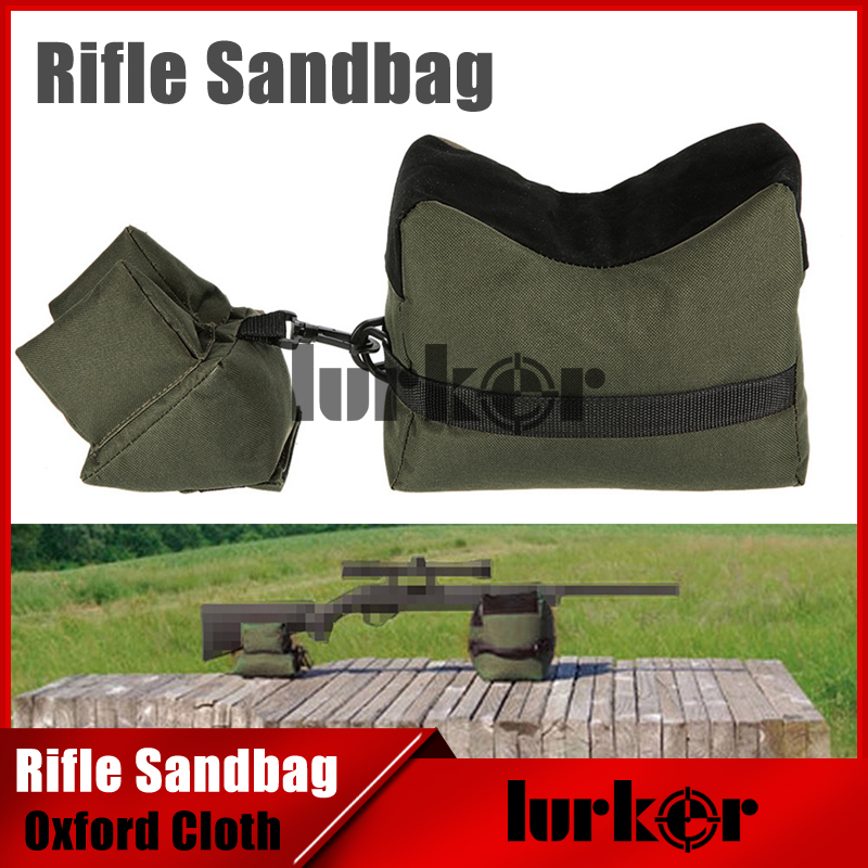 Tactical Front&Rear Bag Support Sniper Rifle Sandbag without Sand Target Stand Oxford Cloth Unfilled Sandbag For Airsoft Hunting