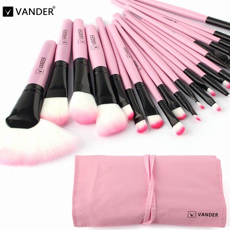 Vander 22Pcs Professional Cosmetic Makeup Brushes Powder Foundation Pincel Maquillage Set Kits Pincel w/ Bag For Woman Beauty vander 8pcs professional rose pink