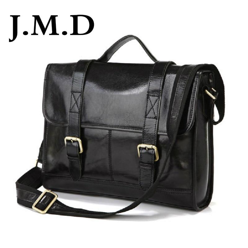 J.M.D Most Popular Business Style 100% Genuine Cow Leather Men's Handbag Briefcase Messenger Bag  7101