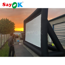 цена 6x4m(16.7x13.12ft) Portable inflatable movie screen projection screen inflatable cinema tv screen outdoor