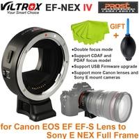 Viltrox EF NEX IV Auto Focus Lens Adapter for Canon EOS EF EF S Lens to Sony E NEX Full Frame A7 A7R A7SII A6300 A6000 NEX 7