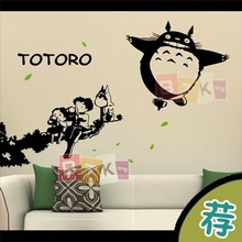 DCTAL Totoro Cartoon Wall Sticker Wall Decors Decal Wall Poster Home Decor Many Color Choose