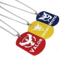 Pokemon GO Mystic valor Ball Figures Pendant Keychain Anime Toys Team badge Dog Tag Necklace free shipping