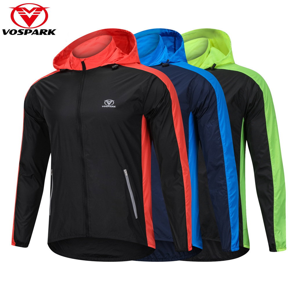 VOSPARK Windbreaker Mens Cycling Bike Jacket with Hooded Outdoor Sport Running Jacket Cycle Clothing MTB Bicycle Wind Coat ...