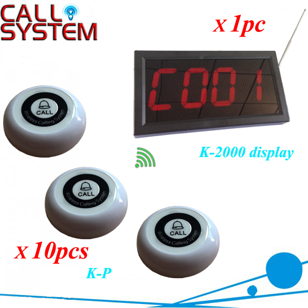Spa room calling button system for service 10 bells transmitter work with 1 desktop led screen wireless wireless service call bell system popular in restaurant ce passed 433 92mhz full equipment watch pager 1 watch 7 call button