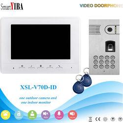 SmartYIBA 7 Intercom TFT LCD Wired Video Door Phone Visual Home Video Intercom Outdoor Door bell doorbell with Camera Monitor