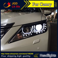 Бесплатная доставка! Стайлинга автомобилей LED HID Рио светодиодные фары головной лампы чехол для Toyota Camry 2012 2013 Биксеноновая объектив низкая л