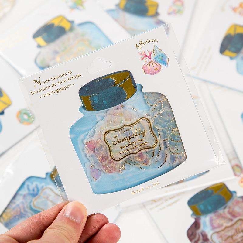 Korean Sticker Lovely Drift Bottle Cute Cartoon PVC Stickers for Diary Decoration DIY Albums Post It Scrapbooking Sticker