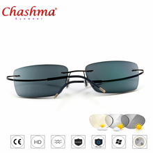 Transition Sunglasses Titanium Photochromic Reading Glasses Men Hyperopia Presbyopia with diopters Outdoor