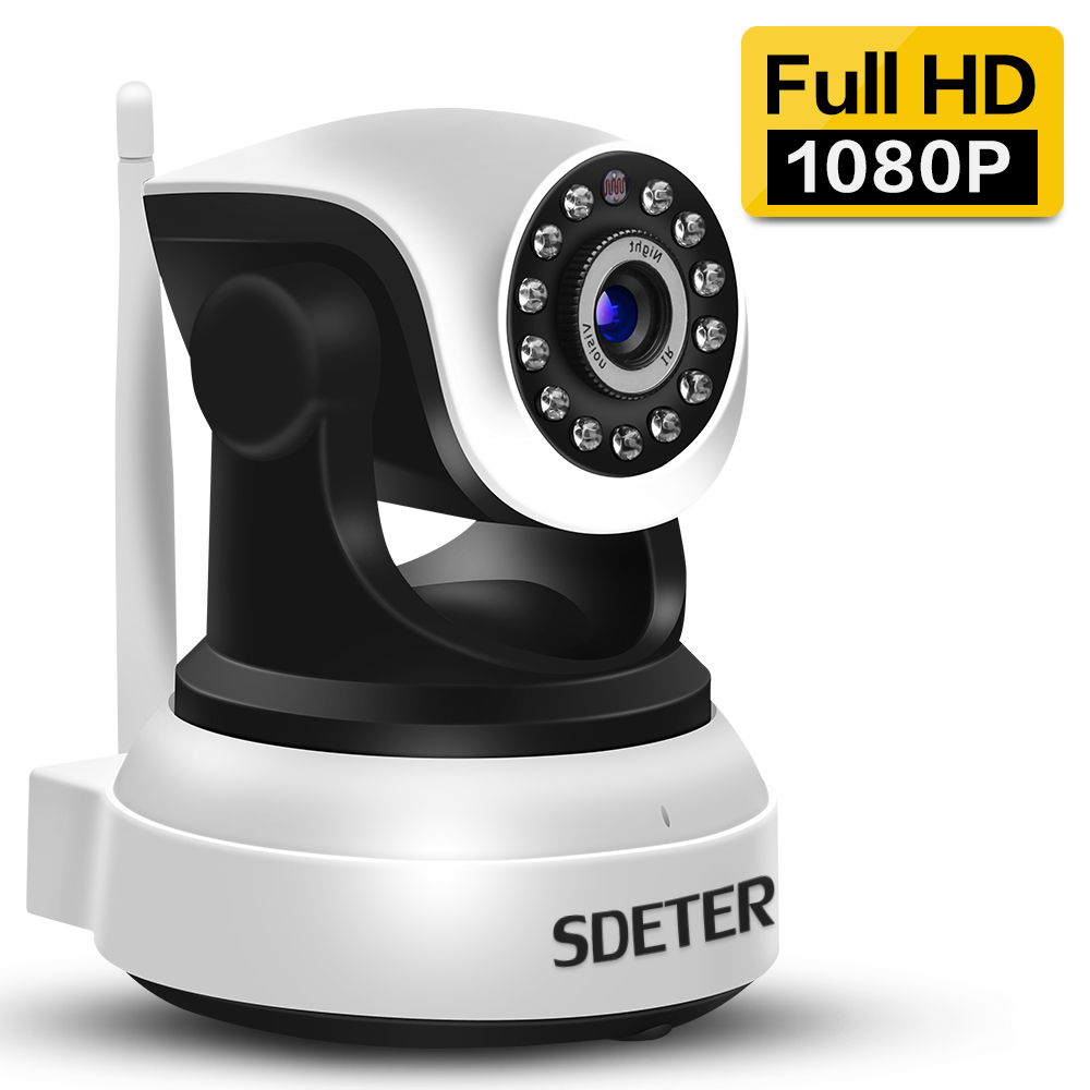 SDETER 1080P 720P Wifi Security Camera IP Camera Home Alarm Surveillance Camera IR Night Vision Baby Monitor Onvif Two Way Audio howell wireless security hd 960p wifi ip camera p2p pan tilt motion detection video baby monitor 2 way audio and ir night vision