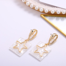 Fashion Delicate Gold Earrings Stars Pendant Simple Beautiful Party Jewelry Ladies Multicolor Summer Ear