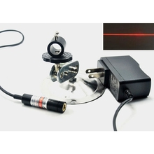 цена на Focusable 635nm 5mW Orange Red Laser Module Line Beam Positioning Lights w AC Adapter & Holder