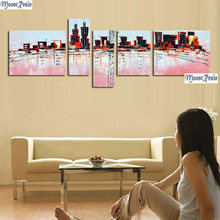 Mooncresin Триптих Алмазная мозаика 5 шт высокий рисунок зданий