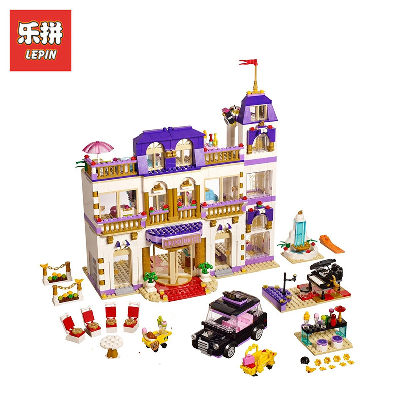 In Stock DHL Lepin Sets 01045 1676Pcs Friends Street Heartlake Grand Hotel Model Building Kits Blocks Bricks Kids Toy Gift 41101 lepin 01045 1676pcs girls series heartlake grand hotel set children eucational building blocks bricks toys model gift 41101