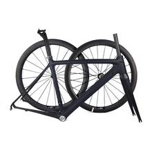 Smileteam 2018 New Model Super Light Full Carbon Road Bike Frame 50/53/55cm Carbon Racing Road Bicycle Frameset With Wheelset