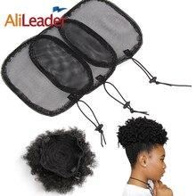 Alileader S/L Black Ponytail Net Wig Caps For Making Guleless Hairnet Hair Tools Bun Maker Women 1Pcs