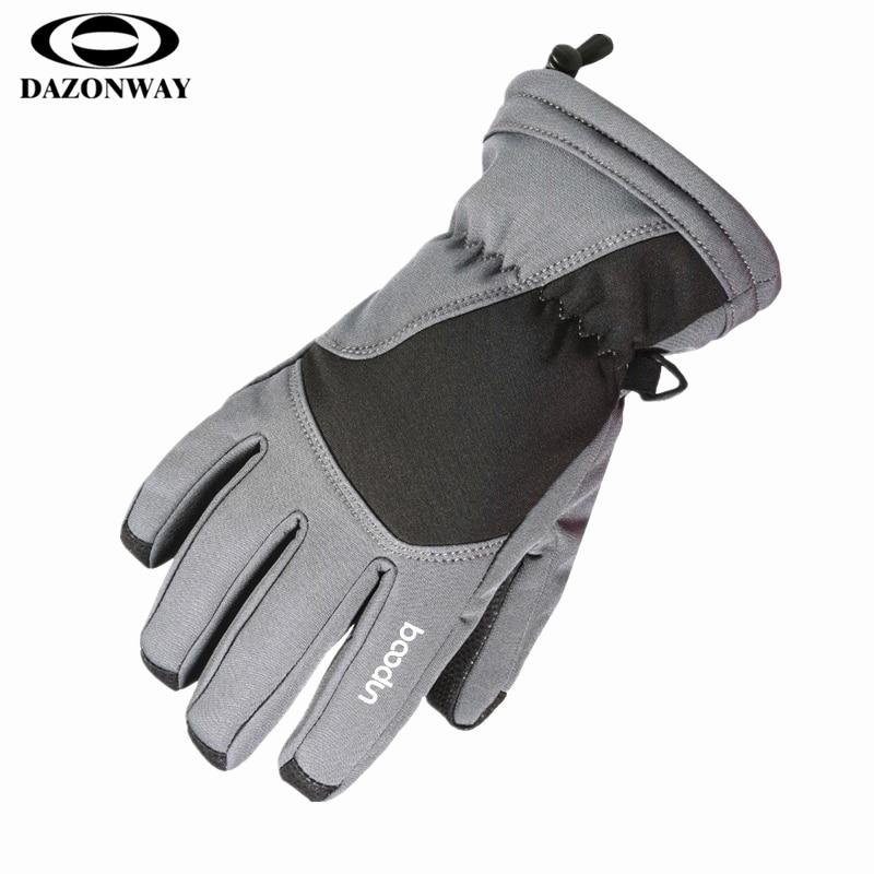 6 ~ 12 ans enfants gants de ski hiver imperméable à l'eau cinq doigts enfants snowboard gants velours épais chaud Sports de plein air gants