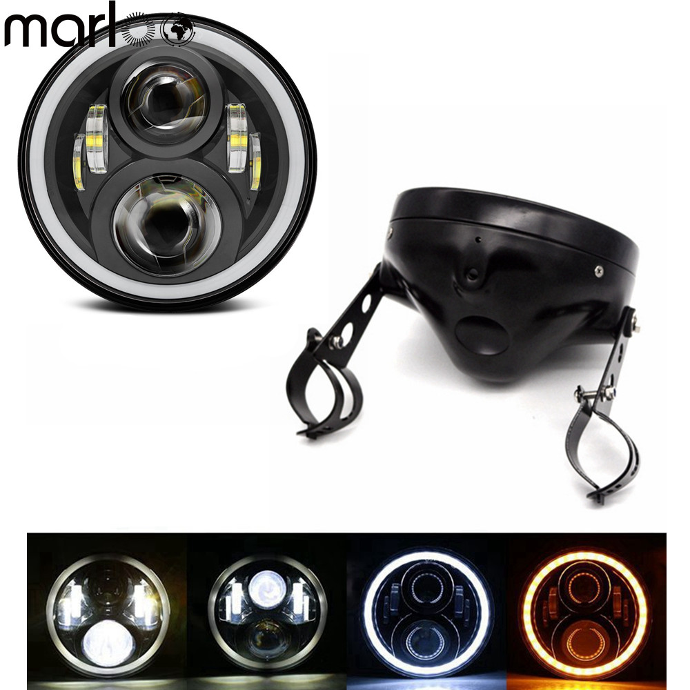 Marloo Motorcycle Accessories LED Round 7