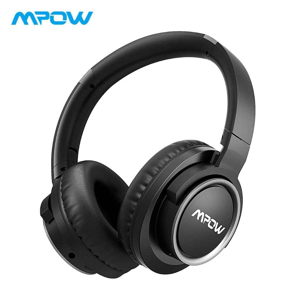 Mpow H3 Active Noise Cancelling Headphones 24H Long Playing Time Over Ear Wireless Bluetooth Headphones With Mic&Carrying Bag mpow 2018 new wired earphones active noise cancelling headset wide compatibility earphone with mic and potable carrying case