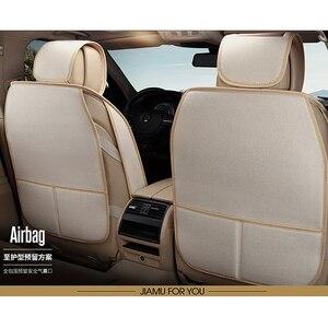 Image 4 - Lino copertura di sede dellautomobile Completamente circondato biancheria di cuoio quattro stagioni tappetino cuscino del sedile auto 95% 5 seggiolino auto può utilizzare seggiolino auto copre