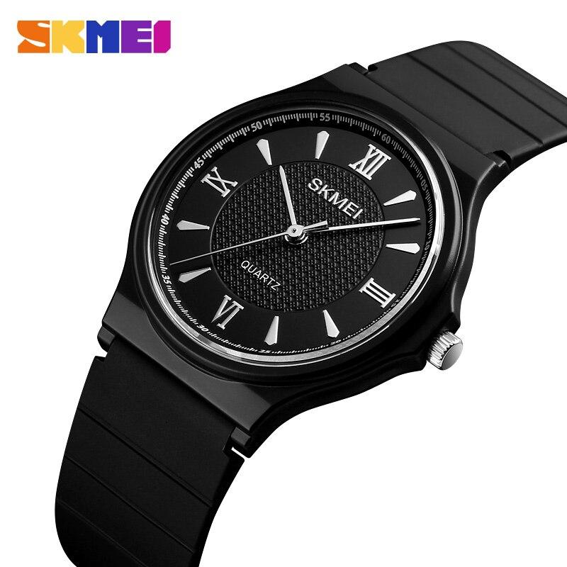 SKMEI NEW Simple Ladies 1422 Watches Elegant Quartz Brand Watch PU Strap Waterproof Women Female Relogio Feminino