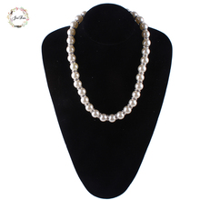 JIOFREE crystal necklace Women Zinc alloy  round long Imitation Pearl Statement Necklace For Women wedding necklace Jewelry