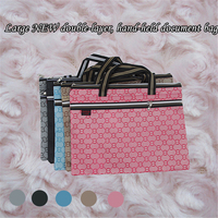 Mini A4 Oxford Cloth File Folder Large Size Waterproof Double Layer Holder Computer Zipper Protable Document