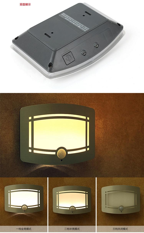 LED gecə işığı Parlaq Motion Sensor enerji qənaət edən - Daxili işıqlandırma - Fotoqrafiya 2